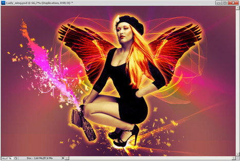 Angel of happiness - Digital art with Photoshop     Photos montage   Scoop.it
