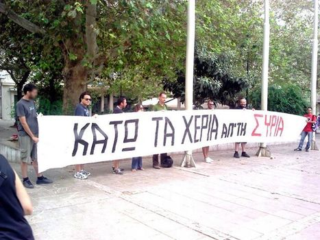 #Athens #Greece #HandsOffSyria rally against USA aggression  #photo   Unthinking respect for authority is the greatest enemy of truth.   Scoop.it