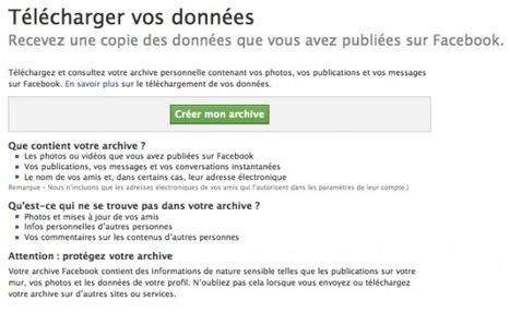 Facebook Autorise Enfin L'export Des Contacts Des Profils ! Oui Mais … | A l'ère du webmarketing. | Scoop.it