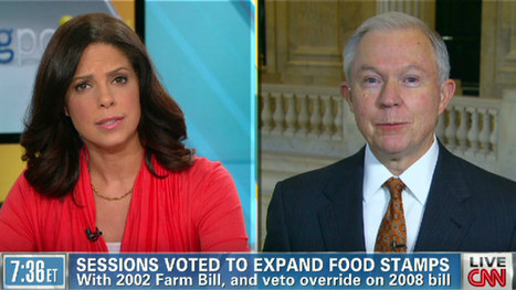 "Sen. Sessions: food stamp program is ""growing out of control;"" voted for ... - CNN (blog) 