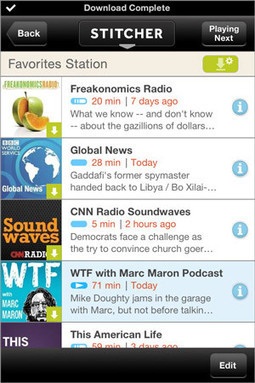 Stitcher updates its iOS app with offline mode for data-free radio ... | iPhones and iThings | Scoop.it
