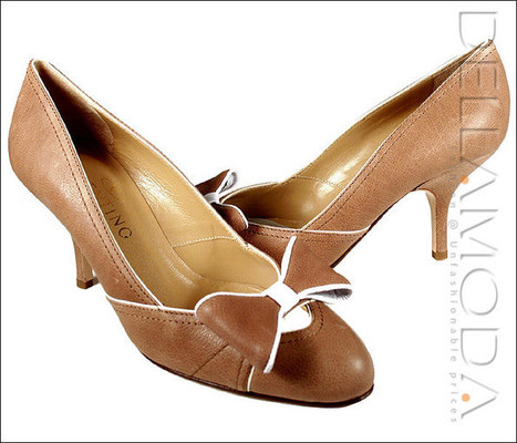 Valentino Shoes, Designer Shoes for Women, Brown/White | Wedding shoes | Scoop.it