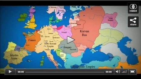 Mappa animata di come è cambiata l'Europa dal 1000 d.C. a oggi [Video] | News from the world | Scoop.it