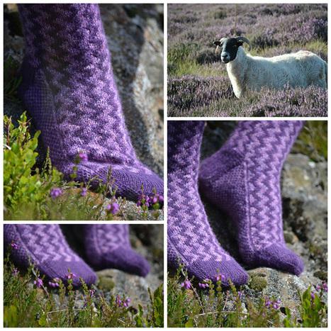 Fair Isle Zig Zag Socks - Knitting Squirrel | Spinning, Weaving and Knitting | Scoop.it