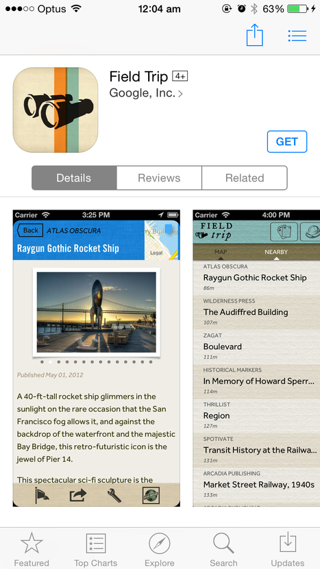 'Field trip' app | Geography | Scoop.it