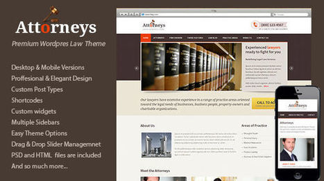 Attorneys WordPress Theme | MyThemeCafe | Website Premium Theme Directory | Scoop.it