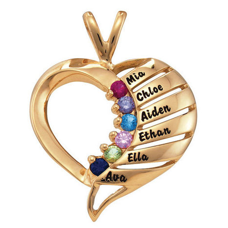 Close to My Heart Necklace – up to 12 Genuine Birthstones | Valentine Gifts for Grandma | Scoop.it
