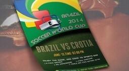 Soccer World Cup Brazil vs Croatia 2014 Party Flyer Template PSD free Downlode. | artgrap.com | Artwork, Graphic & Illustration | Scoop.it