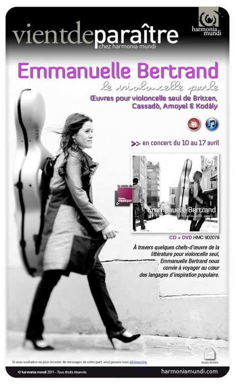 Le violoncelle parle, Emmanuelle Bertrand | De músiques... | Scoop.it