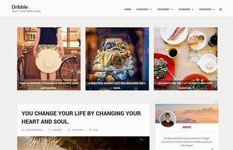 Dribble Clean & Responsive Blogger Template | Blogger Templates | Scoop.it