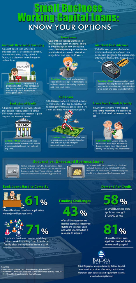 Small Business Loan Infographic from Balboa Capital | Business Industry Infographics | Scoop.it