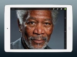 Morgan Freeman Drawn on an iPad by Kyle Lambert • Photoshop Tips & Tricks by IceflowStudios | Online Graphic Design Tutorials | Web inspiration | Scoop.it
