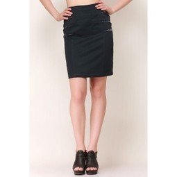 Sexy Navy Trim Pencil Skirt   Online shopping for women   Scoop.it