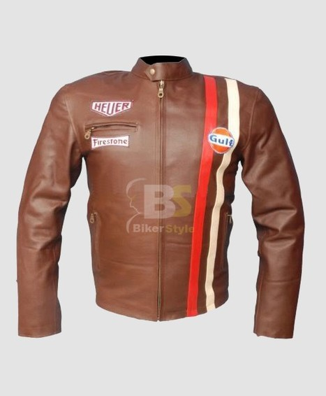 Emulsion Steve McQueen Brown Jacket to highlight your physic features   Steve Mcqueen Jackets   Scoop.it