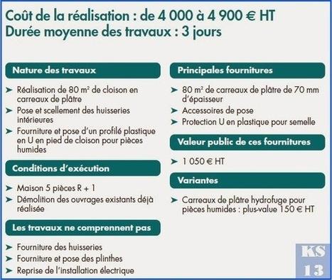 KS Services 13: Chiffrage travaux cloisons en carreaux de plâtre - Bouches-du-Rhône | Courtier en travaux Bouches du Rhône | Scoop.it