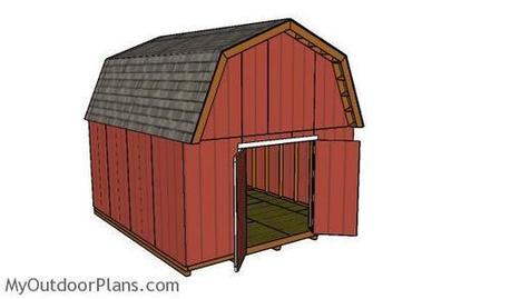 14x16 Barn Shed Plans | MyOutdoorPlans | Free Woodworking Plans and Projects, DIY Shed, Wooden Playhouse, Pergola, Bbq | Garden Plans | Scoop.it