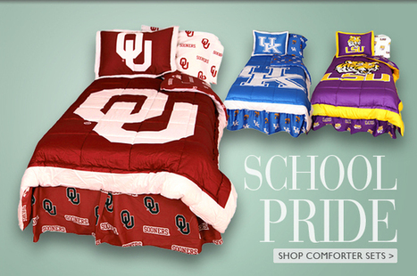 College-themed Bedding for NCAA Schools | College Covers | College Bedding | Scoop.it