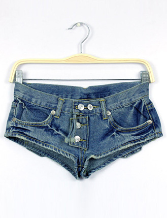 Enchanting V-Shaped Low Rise Single-Breasted Denim Shorts - Shorts Code: 1323630 - Cheap Wholesale Price at ClothesCheap.com | Asian Beautiful Girl | Scoop.it