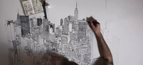 New York disegnata a mano (e in time lapse) - Wired | Living and Teaching Visual: Images, Art, Pictures, Infographic, Posters... | Scoop.it