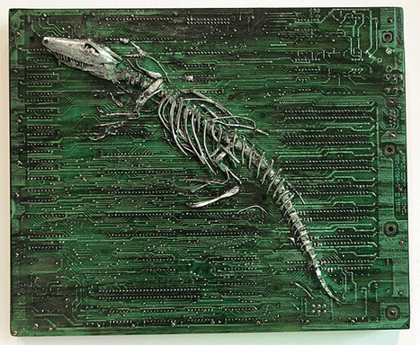 """Circuit Board Fossils, Paintings and Other Found Object Sculptures by Peter McFarlane   Colossal   CF Art Dept """"stuff""""   Scoop.it"""