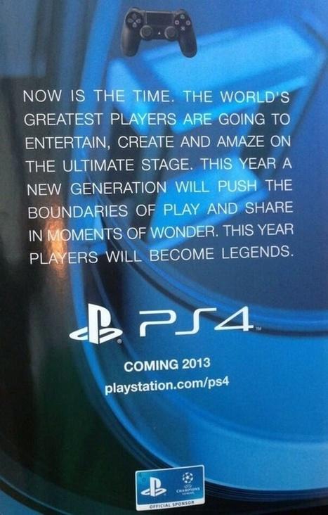 PlayStation 4 - Sony schaltet Werbung in Europa für 2013-Release - GameStar | SONY PlayStation 4 | Scoop.it