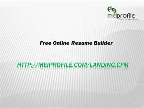 Free Online Resume Builder Ppt Presentation | Online Resume Builder | Scoop.it
