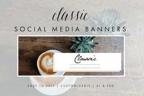 FREE till tomorrow | Social Media Banners PSD/AI template | Design Freebies & Deals | Scoop.it