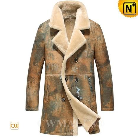 CWMALLS® Double Breasted Sheepskin Coat CW816116 | Fur Lined Mens Coat | Scoop.it