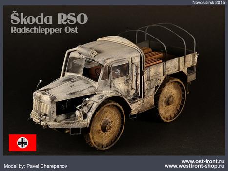 Skoda RSO Radschlepper Ost | Military Miniatures H.Q. | Scoop.it