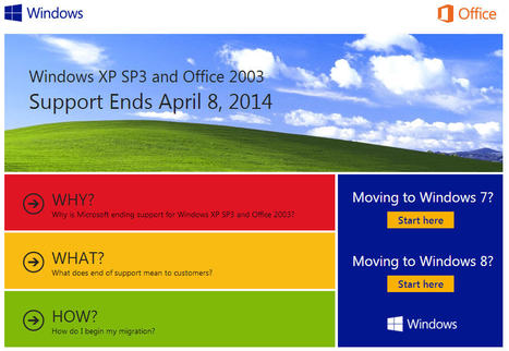 Microsoft Ends Support of Windows XP, Office 2003 in 2014! | Be Aware of Email Scams | Scoop.it
