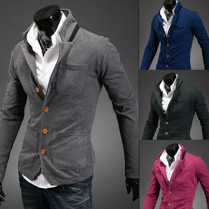Free delivery of 2013 new styles Korean men's collar stand collar suit small color matching-in Blazers from Apparel & Accessories on Aliexpress.com | Lovely father | Scoop.it