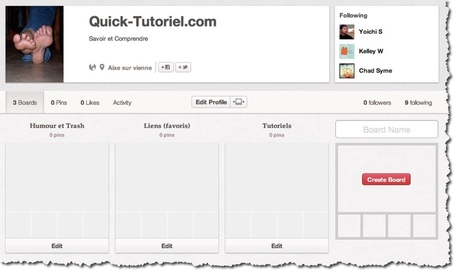 Utiliser Pinterest pour développer l'audience de son blog. | Quick-Tutoriel.com | INFORMATIQUE 2013 | Scoop.it