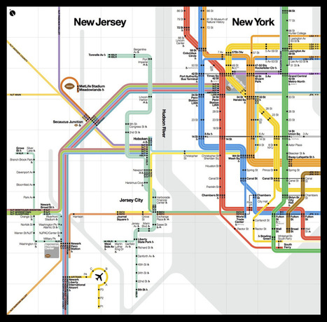 A beautiful new public transit map shows how New York and New Jersey connect for the Super Bowl | Daily Magazine | Scoop.it
