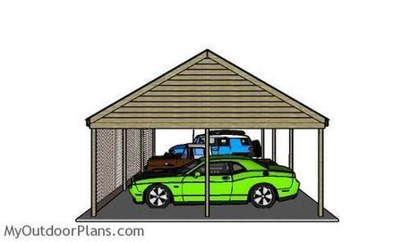 3 Car Carport Plans | MyOutdoorPlans | Free Woodworking Plans and Projects, DIY Shed, Wooden Playhouse, Pergola, Bbq | Garden Plans | Scoop.it