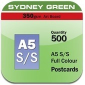 1 Page A5 Postcards 350gsm Sydney Green 500   Online Printing Services   Scoop.it