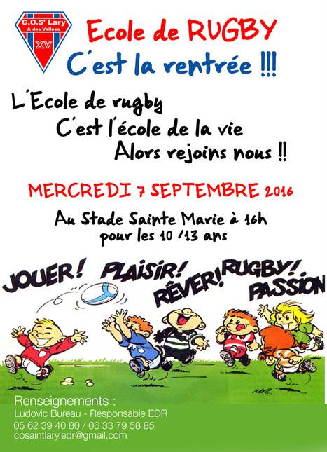 Rentrée pour le rugby à Saint-Lary le 7 septembre | Vallée d'Aure - Pyrénées | Scoop.it