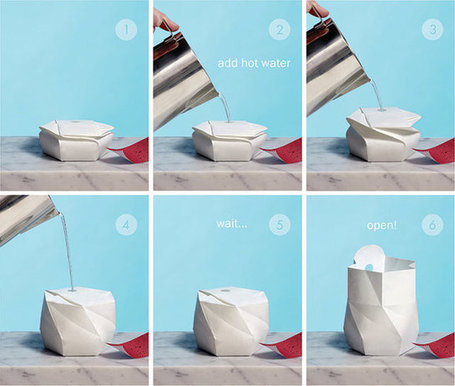An Origami-Like Bowl That Expands When You Add Water | Inspirational Ideas | Scoop.it