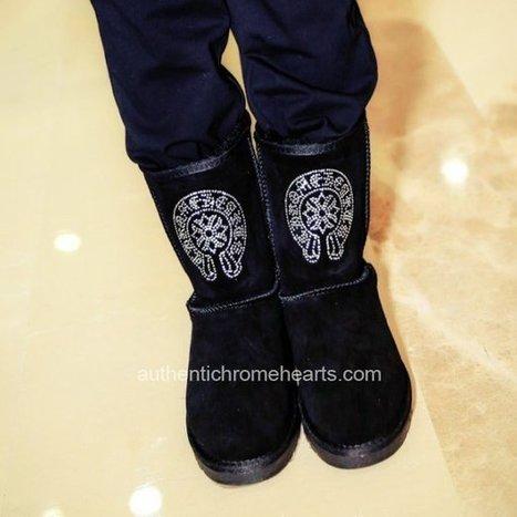 Chrome Hearts Rhinestone Horseshoes Black Short Boots [Chrome Hearts Boots] - $287.00 : Authentic Chrome Hearts | Chrome Hearts Online | Boutique | Scoop.it
