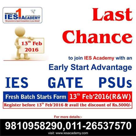 Join IES Academy before 13th Feb and Get Discounts of 5,000 | IES Coaching in DELHI | Scoop.it