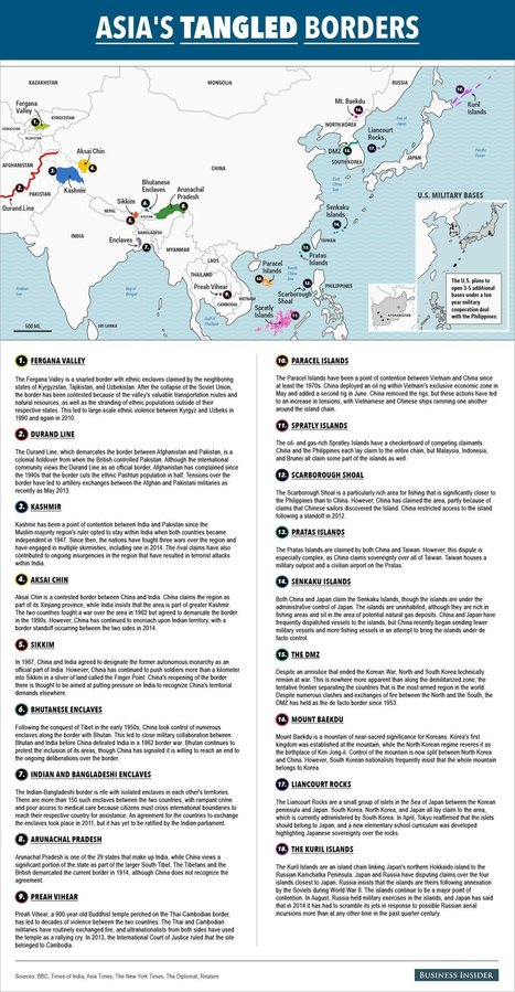 Asian Border Disputes | Géopolitique & Cartographie | Scoop.it