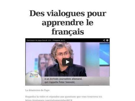 A2/B1: C.O. > Des vialogues pour apprendre le français | FLE et nouvelles technologies | Scoop.it
