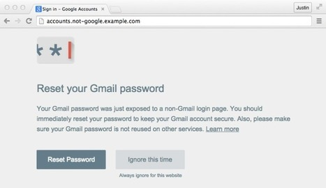 Google Launches Password Alert Chrome Extension To Keep You From Reusing YourPasswords | Educational technology , Erate, Broadband and Connectivity | Scoop.it