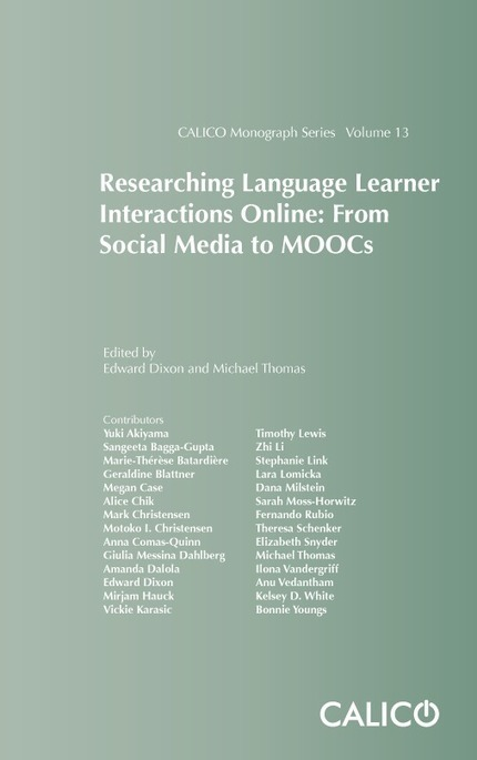 Researching Language Learner Interactions Online: From Social Media to MOOCs | TELT | Scoop.it