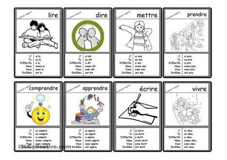 Le Passé Composé - 40 cartes verbes irréguliers au Passé Composé | FLE | Scoop.it