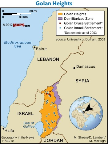 The Golan Heights | AP Human GeographyNRHS | Scoop.it