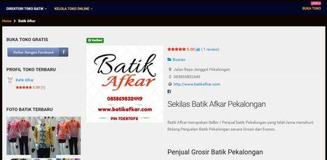 Pasar Batik Pekalongan   Direktori Penjual dan Toko Batik Pekalongan   Pekalongan   Scoop.it