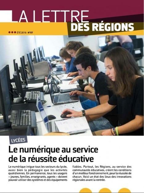 Le numérique au service de la réussite éducative | L'ARF – L'association des Régions de France | Pédagogie & Numérique | Scoop.it