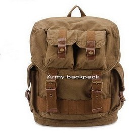 Rugged canvas army combat backpack by Ubackpack | personalized canvas messenger bags and backpack | Scoop.it