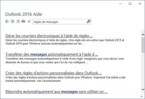 Outlook 2016 – La fonctionnalité Rechercher | Médiaforma | gestion temps, outlook, lotus notes | Scoop.it