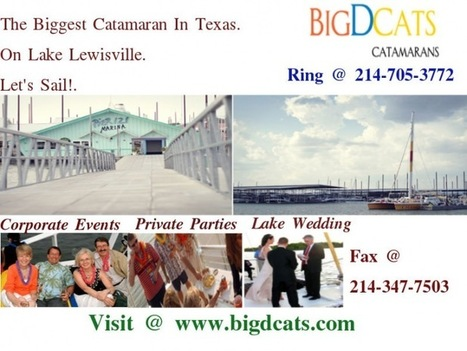 Unique Outdoor Venue on Lake Lewisville | Catamaran Services | Scoop.it